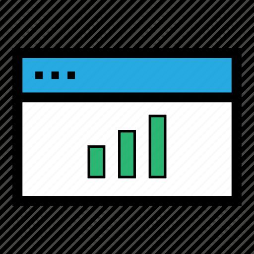 analytics, bar graph, chart, diagram, finance, graph, statistics icon
