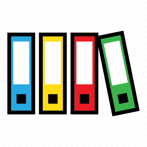 archive, books, data, documents, files, folders, report icon