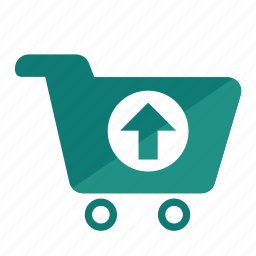 cart, online, purchase, sell product, shopping, sold, upload icon