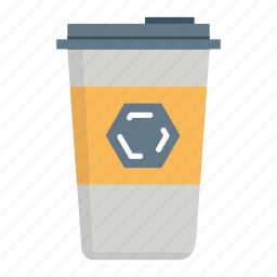 beverage, coffee, disposable, drink, paper coffee cup, paper cup, take away icon