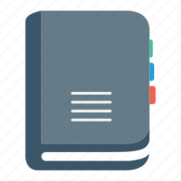book, contact, diary, note, organizer, planner icon