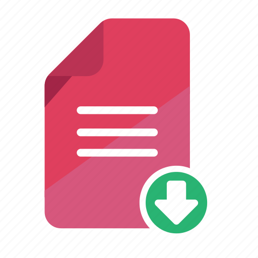attachment, document, download, file, office, record, statement icon
