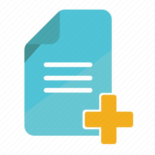 add document, add file, business, file, note, office icon