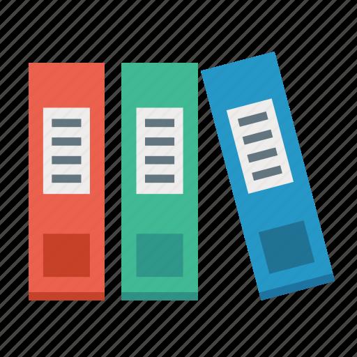 book, business, document, folders, office, portfolio, shelf icon