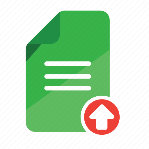 document, file upload, office, record, upload, upload attachment icon
