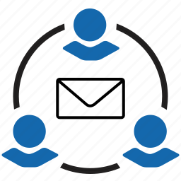 business, chat, email, friends, office, online, text icon
