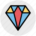 brilliant, diamond, gem, jewelry, ruby, stone, vision icon