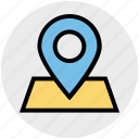 direction, internet, location, map, map pin, navigation, pin icon