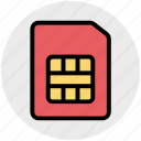 card, chip, number, phone, phone sim, sim, simcard icon