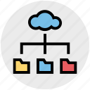 business, cloud, data, folders, internet, sharing icon