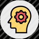 brain, head, human, insight, mind, people, thinking icon