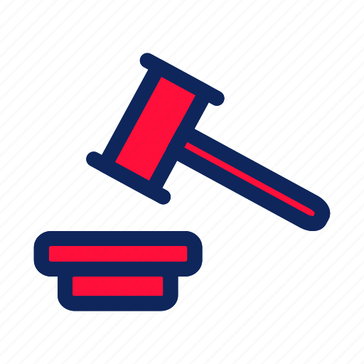 business, hammer trial, internet, money, office, sale icon