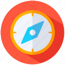 compass, goal, orientation, success, target icon