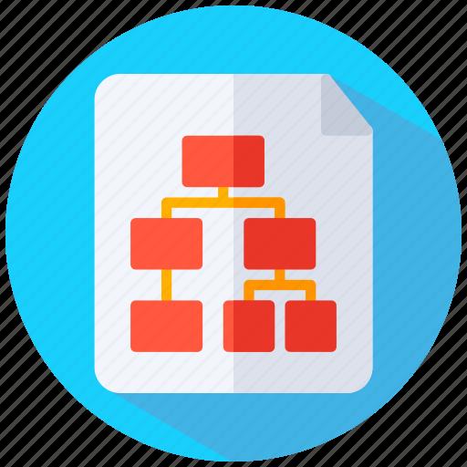 decision, diagram, flow chart, process chart icon