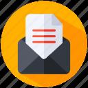 envelope, letter, mail, message, send, send message icon