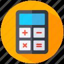 analytics, calculator, education, finance, machine, math icon