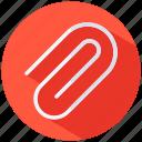 attachement, clip, document, paperclip icon