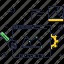 code, development, internet, line, technology, thin, website icon