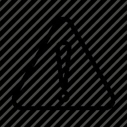 attention mark, triangle icon