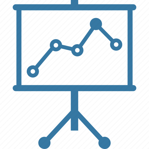 analytics, board, graph, presentation, statistics icon
