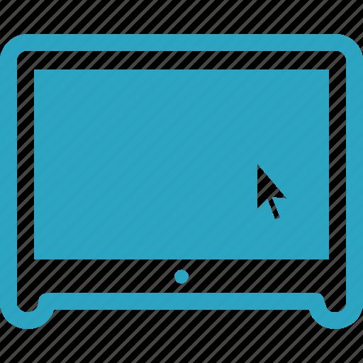 click, computer, monitor icon