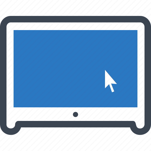 click, computer, monitor, technology icon