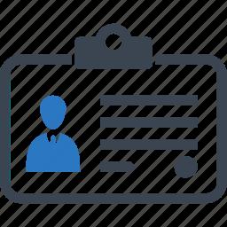 business, id, identity card icon