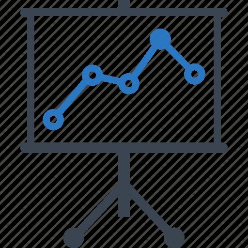 analytics, business graph, presentation, statistics icon