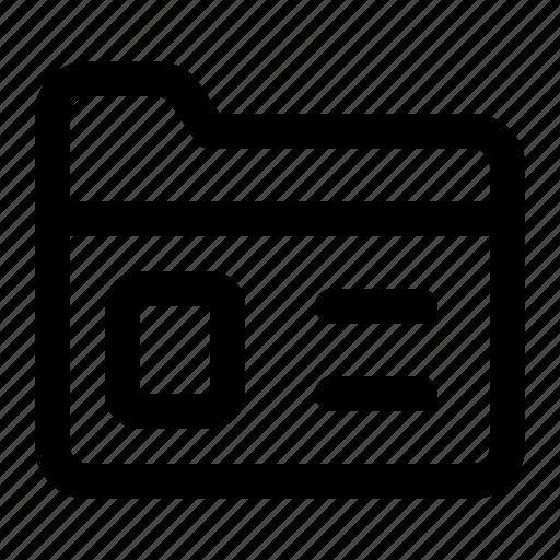business, data, file, finance, folder icon
