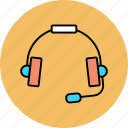 communication, conversation, headphone, suppo icon