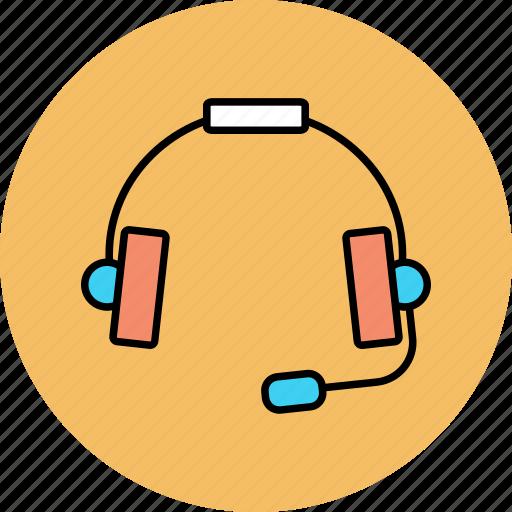 communication, conversation, headphone, suppo icon