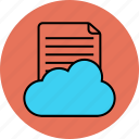 cloud, paper, social, sound icon icon