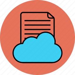 cloud, paper, social, sound icon icon