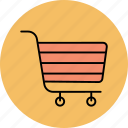 basket, buy, cart, purchase, shop, shopping, shopping cart icon icon