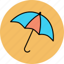 opened, protection, rain, umbrella icon icon