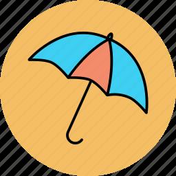 opened, protection, rain, umbrella icon icon