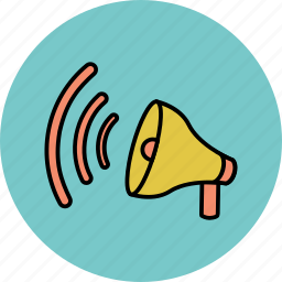 advertisement, advertising, announcement, horn icon
