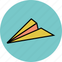 airplane, email, mail, message, paper plane, plane, send icon icon