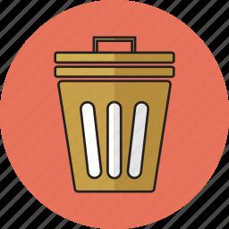 bin, delete, erase, garbage icon icon