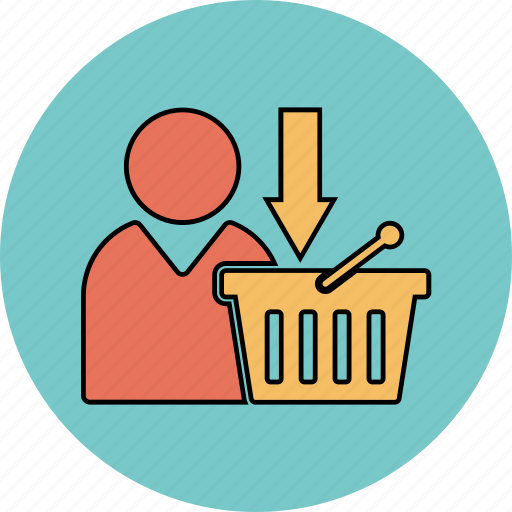 basket, download icon, online, shopping, update icon