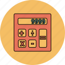 business, calculations, calculator, finance, math icon