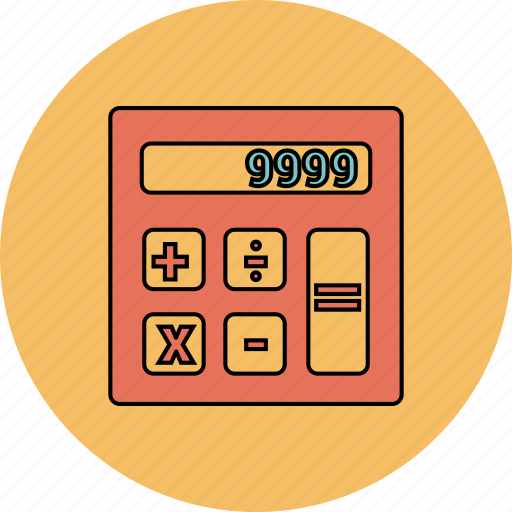 business, calculations, calculator, finance, math icon