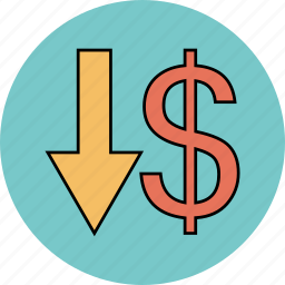 business, cash, currency, dollar, download, financ icon