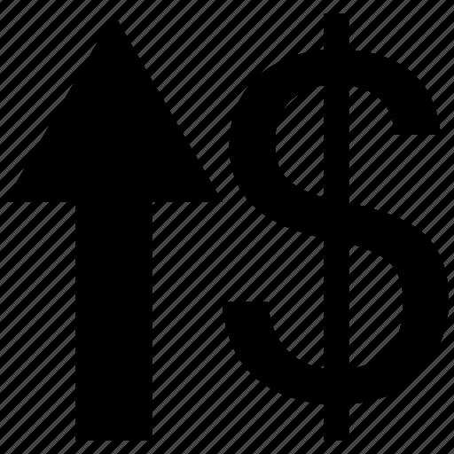 analytics, bar, chart, dollar, increase icon icon