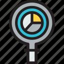 analysis, data, report, statistics icon