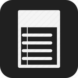 business, design, line, paper, web icon