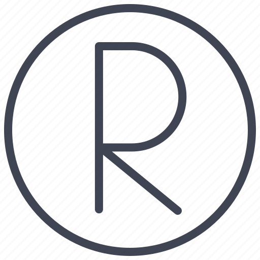 business, circle, document, mark, r icon