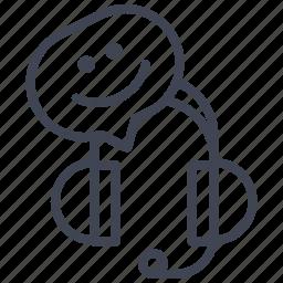 business, headphone, headphones, smile, smiley icon