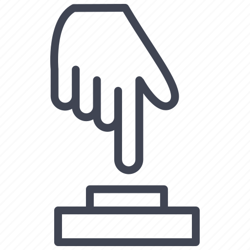 business, hand, launch, start, startup icon