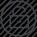unlocked, business, lock, protection, security, unlock